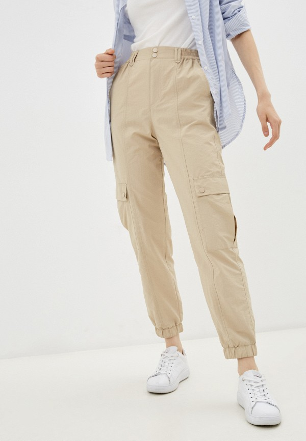 женские брюки карго o'stin, бежевые