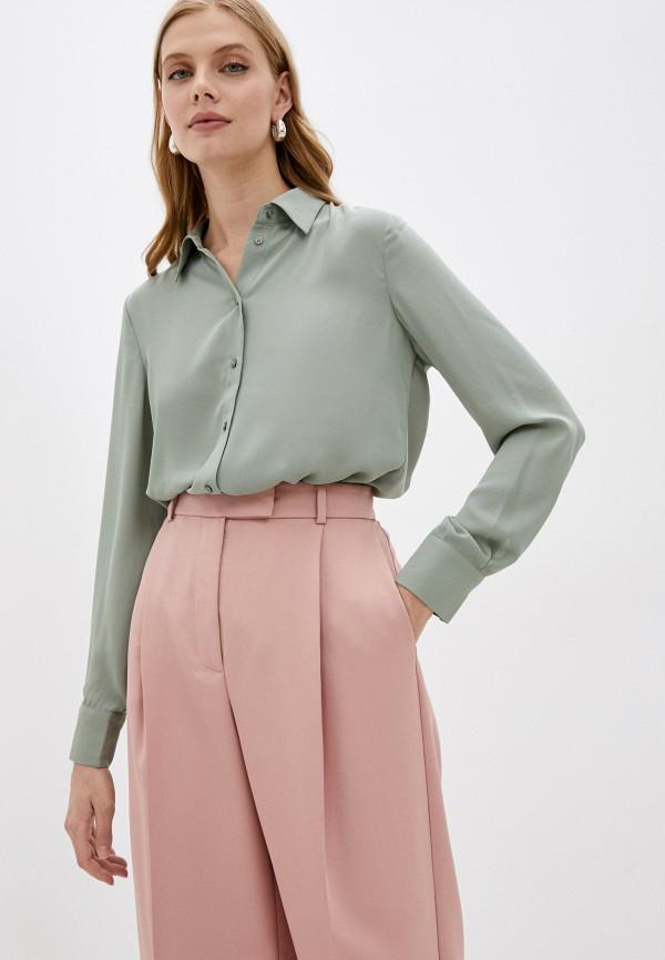 женская блузка с длинным рукавом o'stin, зеленая