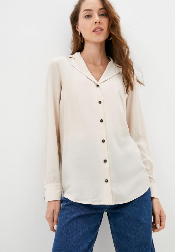 женская блузка с длинным рукавом o'stin, бежевая