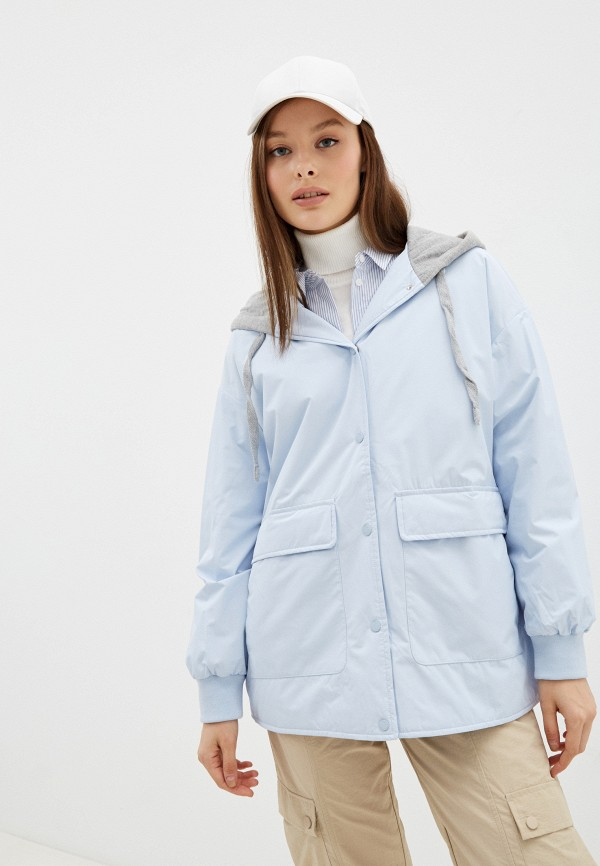 женская утепленные куртка o'stin, голубая