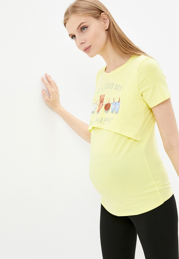 женская футболка magica bellezza, желтая