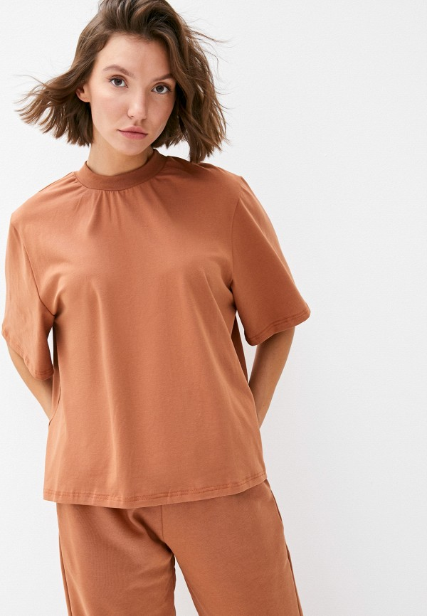 женская футболка theone by svetlana ermak, коричневая