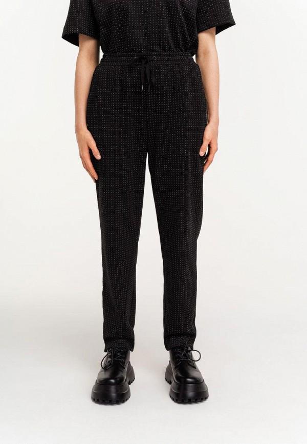 женские брюки джоггеры befree, черные