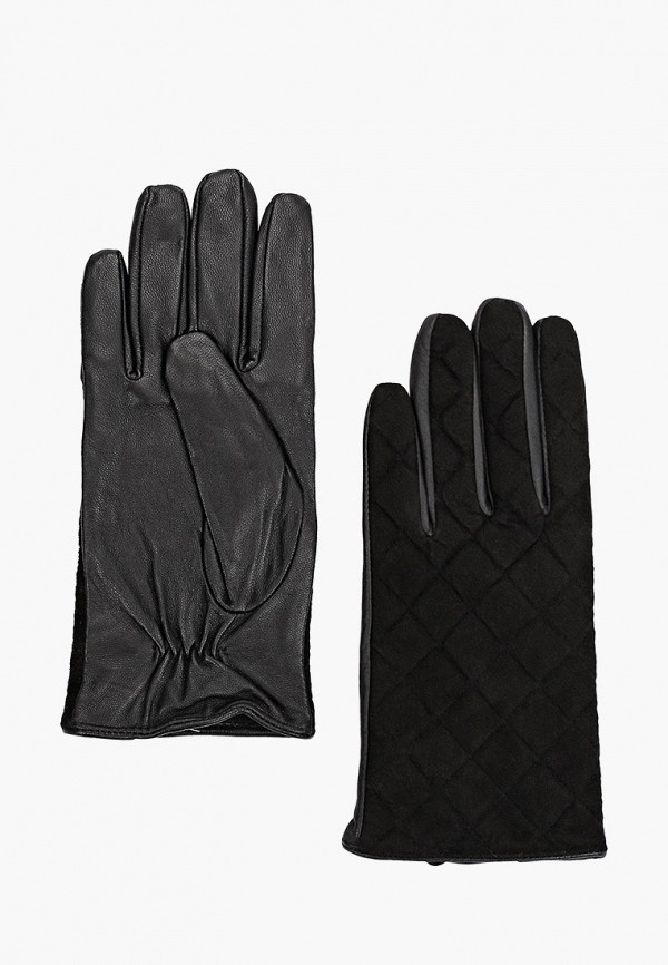 женские кожаные перчатки love republic, черные