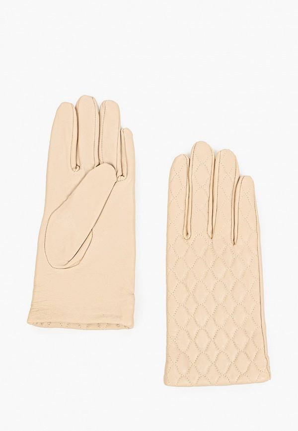 женские кожаные перчатки love republic, бежевые