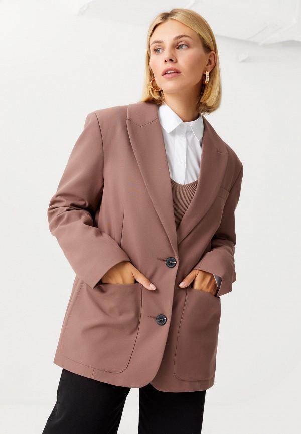 женский жакет sela, коричневый