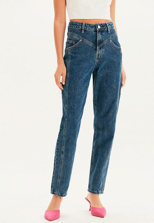 женские прямые джинсы love republic, синие
