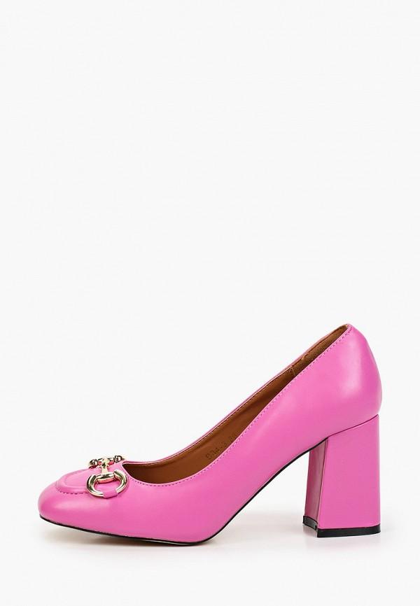 женские туфли с закрытым носом араз, розовые