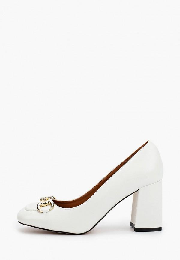 женские туфли с закрытым носом араз, белые
