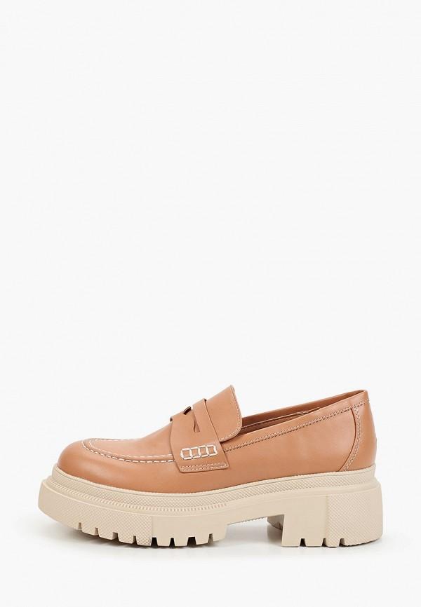 женские туфли с закрытым носом араз, коричневые