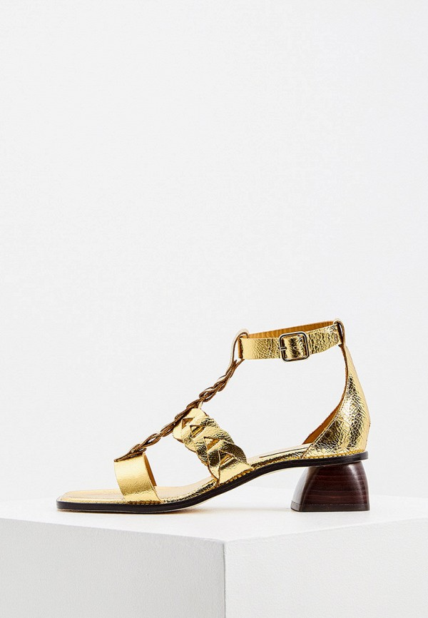 женские босоножки sandro, золотые