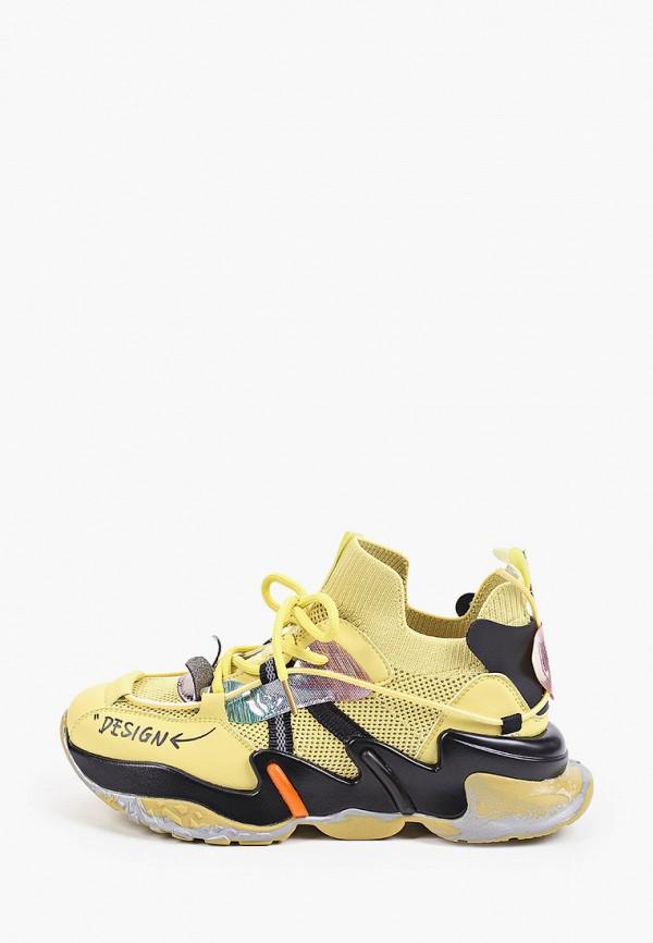 женские низкие кроссовки sprincway, желтые