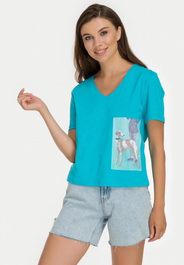 женская футболка millennials, бирюзовая