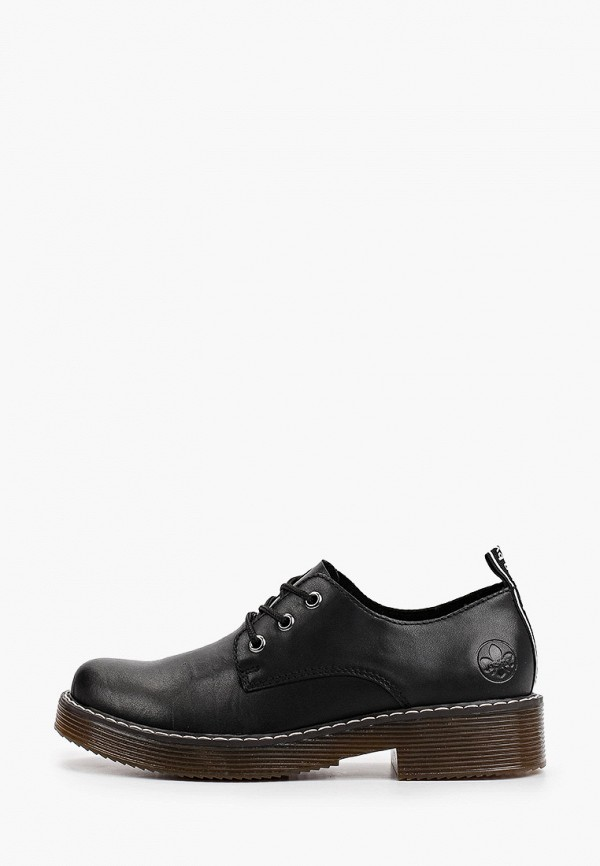 женские низкие ботинки rieker, черные