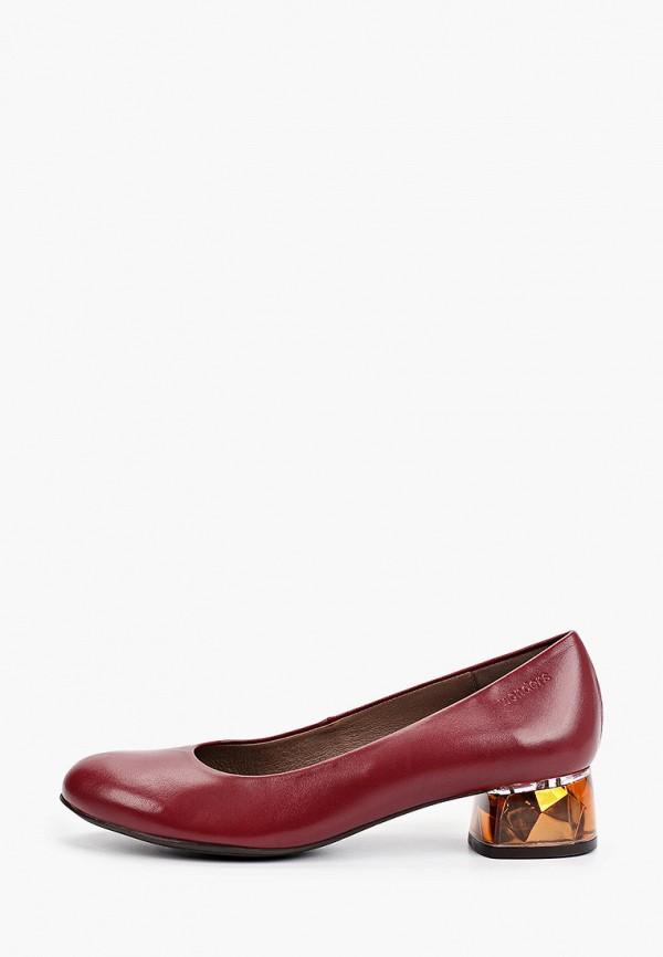 женские туфли с закрытым носом wonders, бордовые