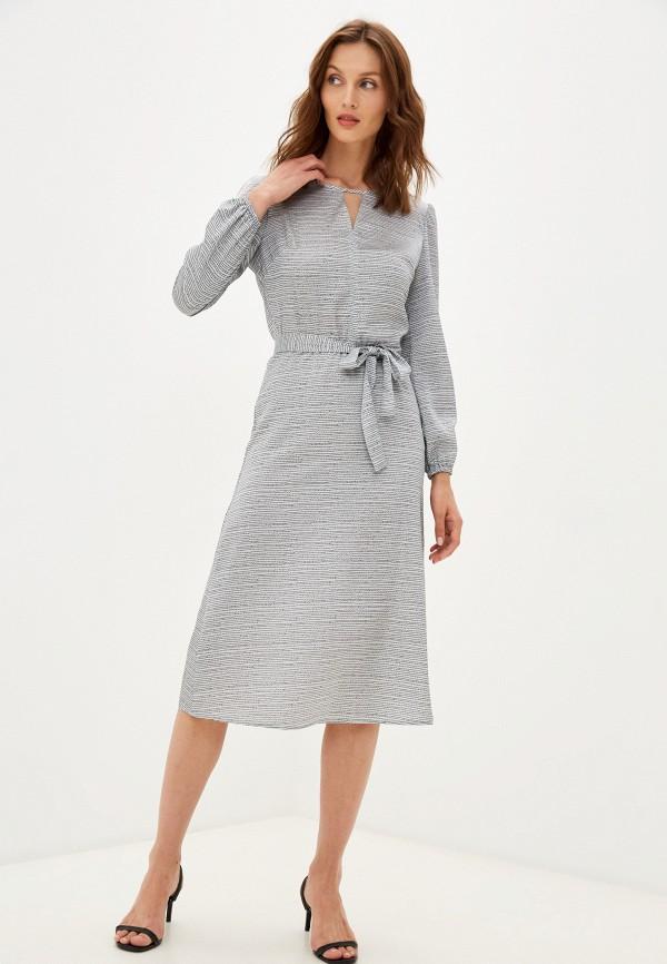 женское повседневные платье falinda, серебряное