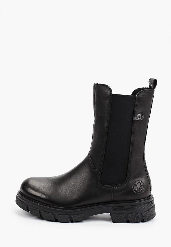 женские ботинки-челси rieker, черные
