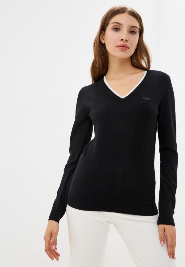 Пуловер Lacoste черного цвета