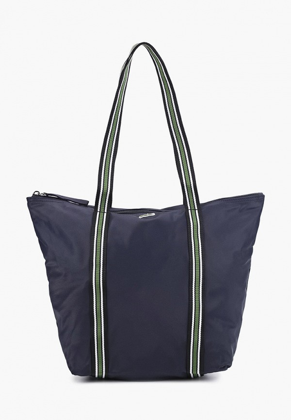 женская сумка-шоперы lacoste, синяя