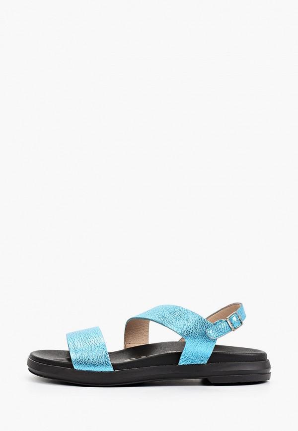 женские сандалии wonders, голубые