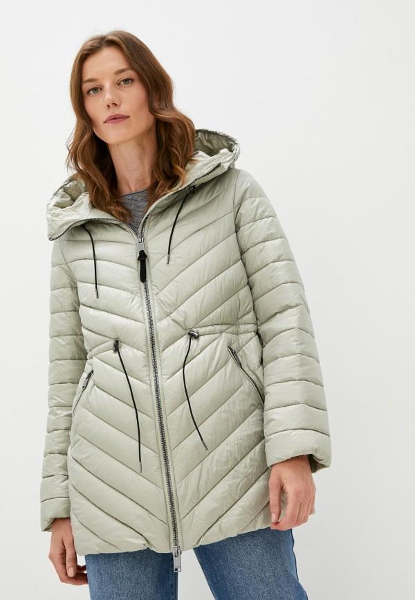 женская утепленные куртка baon, зеленая