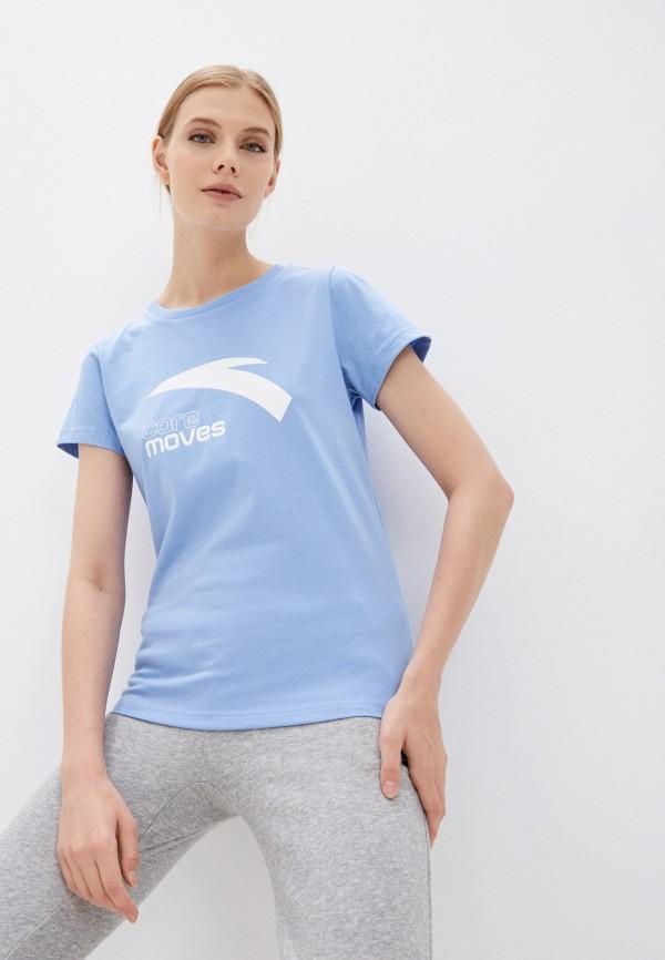 женская спортивные футболка anta, голубая