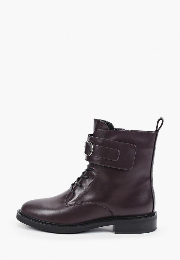 женские высокие ботинки basconi, бордовые