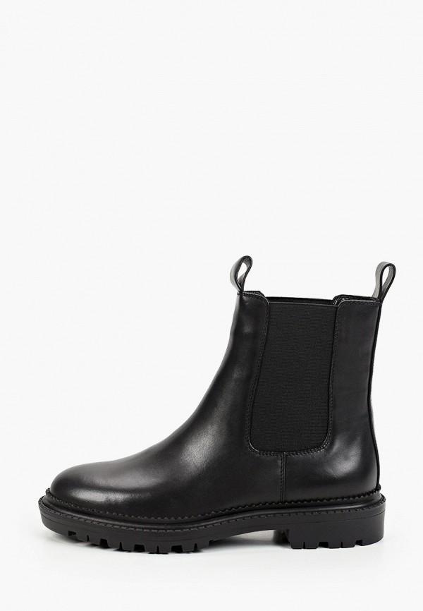 женские ботинки-челси basconi, черные