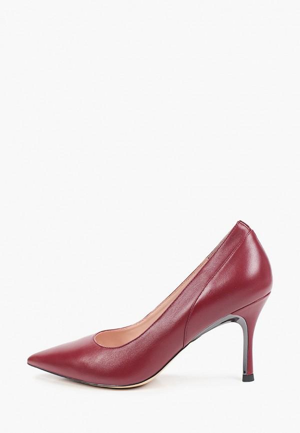женские туфли-лодочки basconi, бордовые