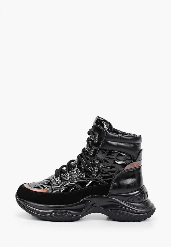 женские высокие кроссовки vitacci, черные