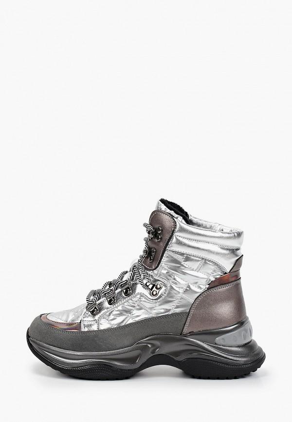 женские высокие кроссовки vitacci, серебряные