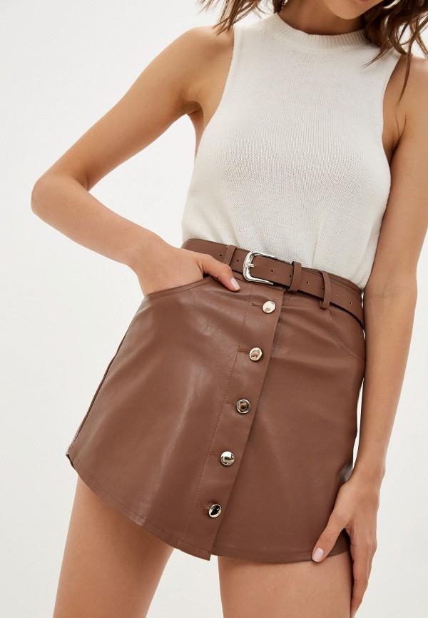Юбка-шорты Fadjo коричневого цвета