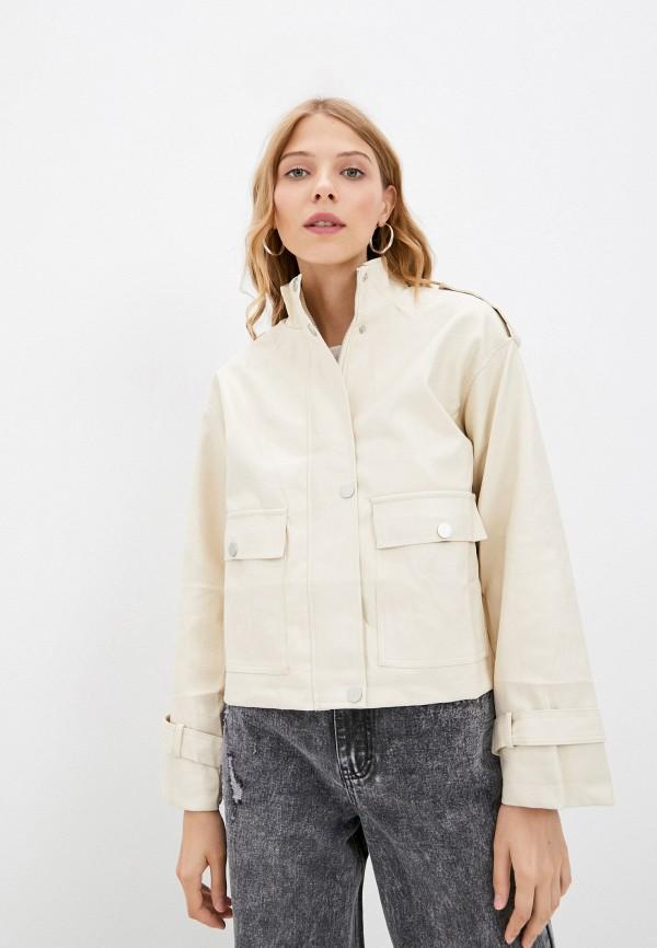 Куртка кожаная Fadjo бежевого цвета