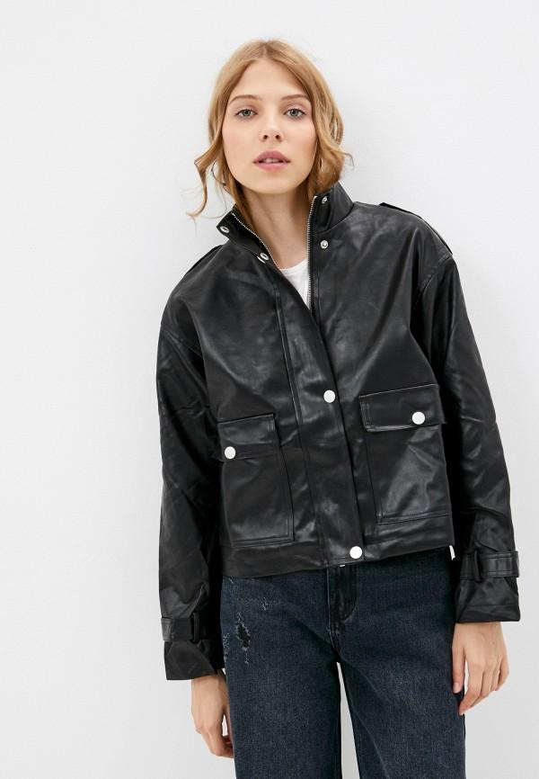 Куртка кожаная Fadjo черного цвета