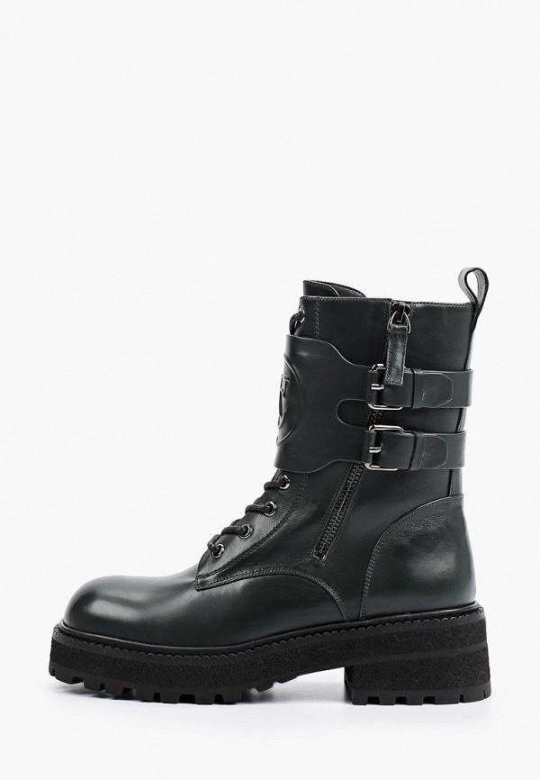 женские высокие ботинки vitacci, зеленые