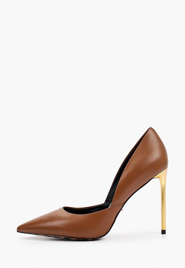женские туфли-лодочки vitacci, коричневые