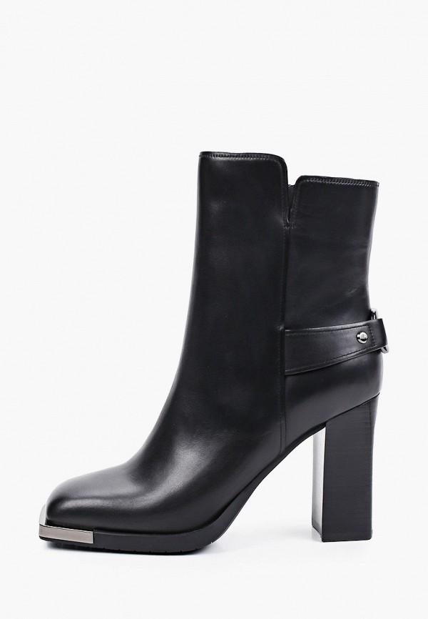 женские высокие ботильоны vitacci, черные