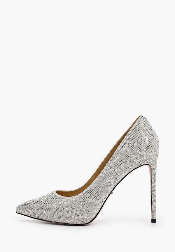 женские туфли-лодочки vitacci, серебряные