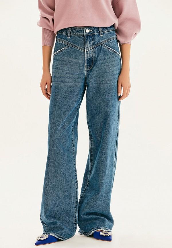 женские джинсы бойфренд love republic, синие