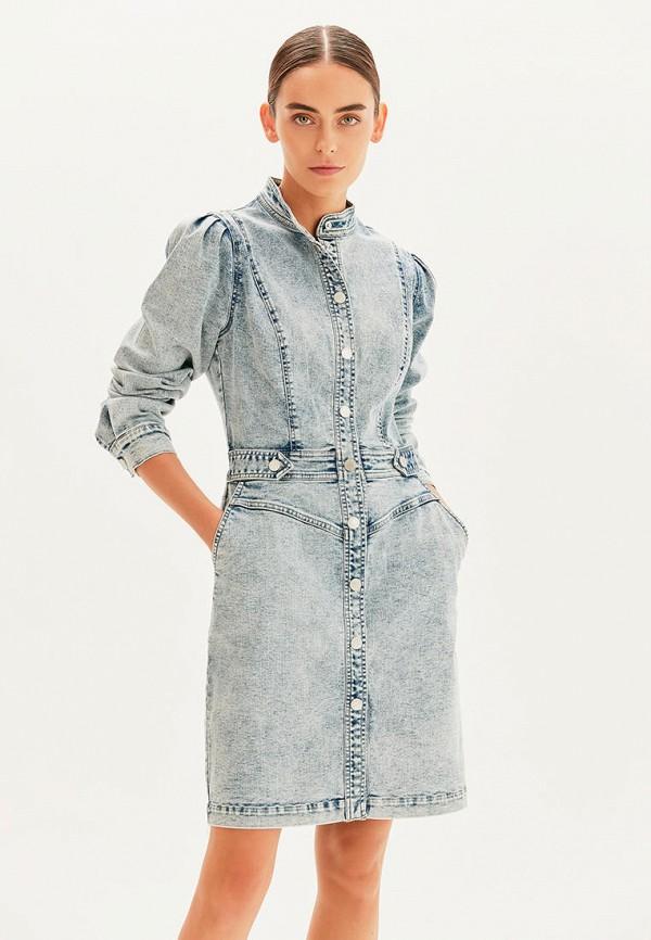 женское джинсовые платье love republic, голубое