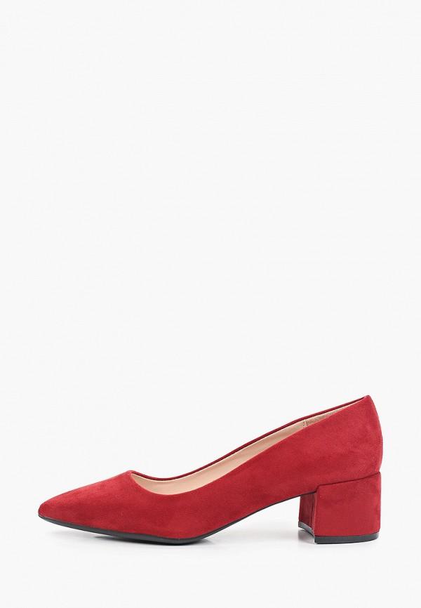 женские туфли с закрытым носом enjoin', бордовые