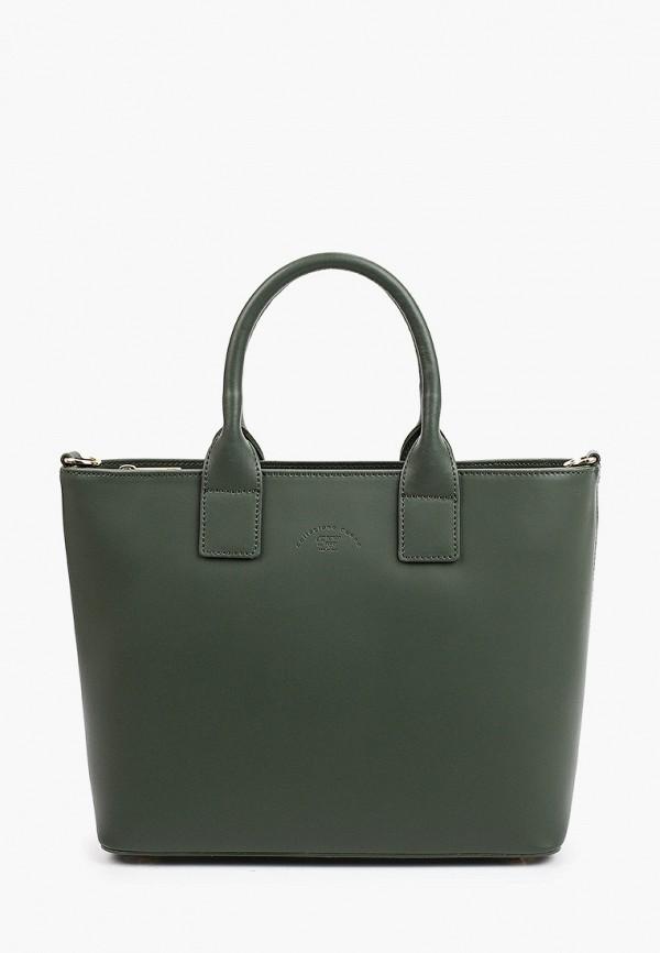 женская сумка с ручками franco frego, зеленая