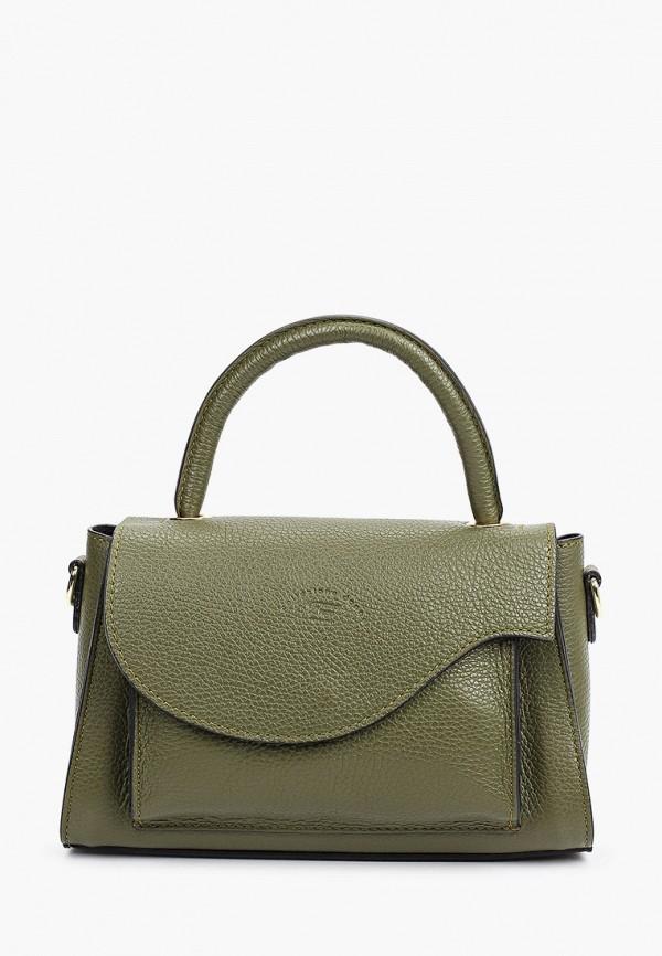 женская сумка с ручками franco frego, хаки