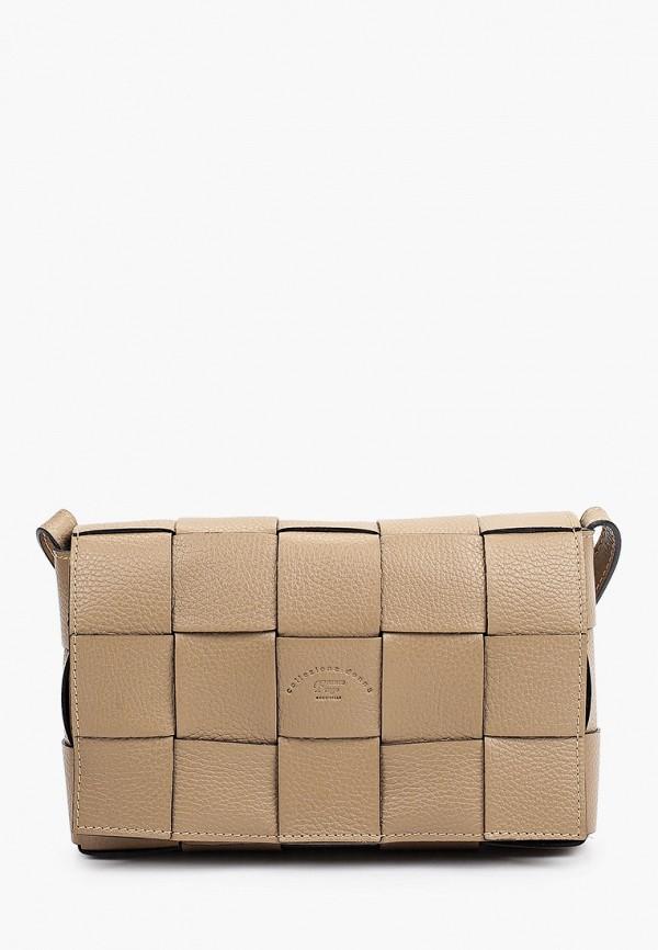 женская сумка через плечо franco frego, коричневая