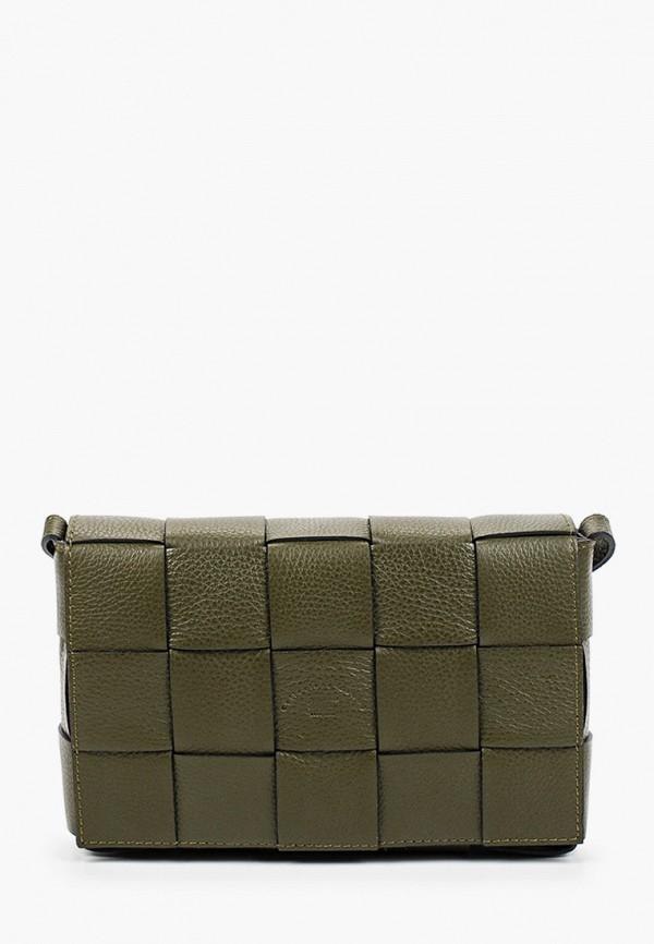 женская сумка через плечо franco frego, хаки