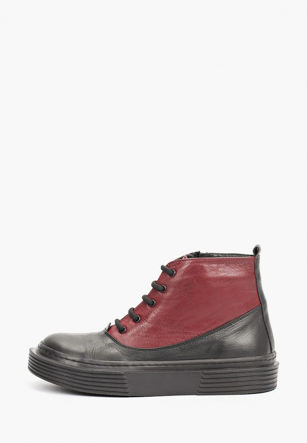 женские высокие ботинки airbox, бордовые