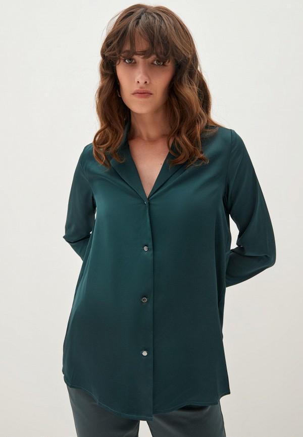 женская блузка с длинным рукавом zarina, зеленая