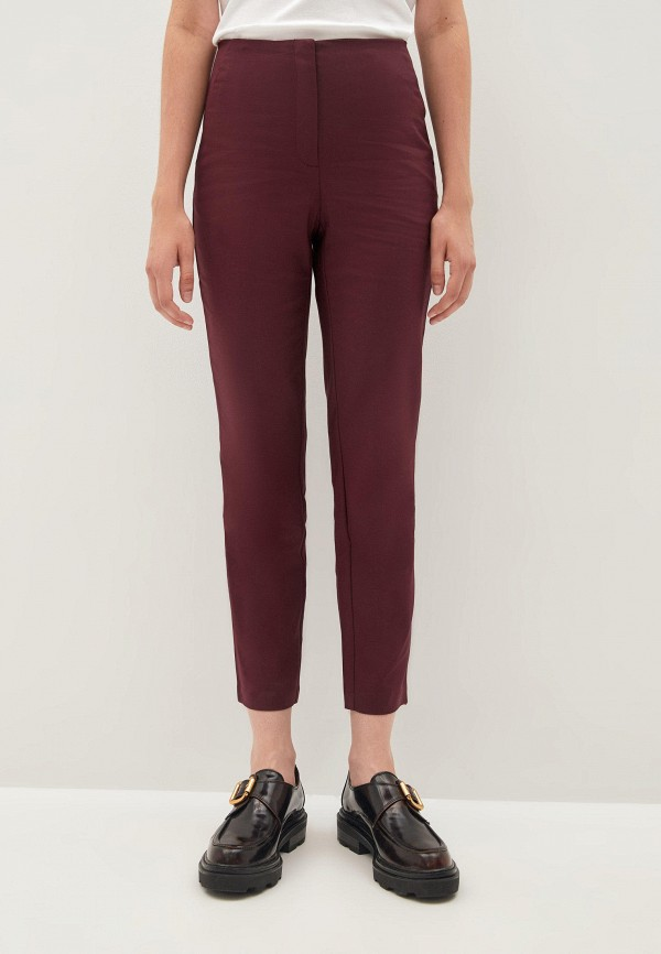 женские классические брюки zarina, бордовые