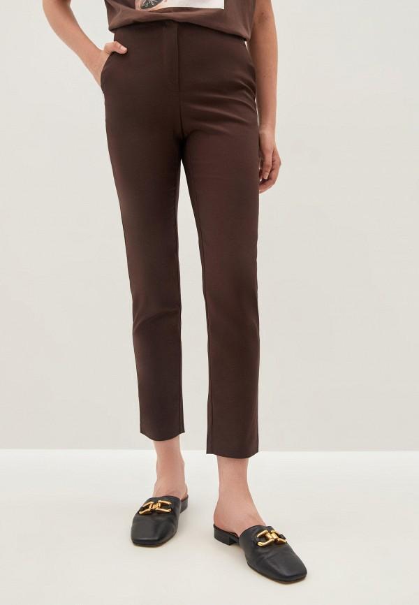 женские зауженные брюки zarina, коричневые