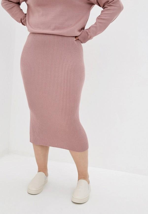 женская зауженные юбка прованс, розовая